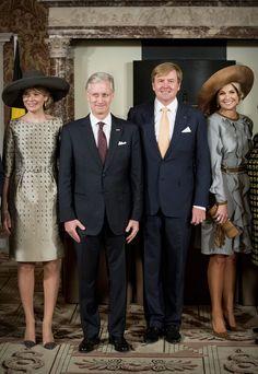 Koningin Mathilde, Koning Philip, Koning Willem-Alexander en Koningin Máxima