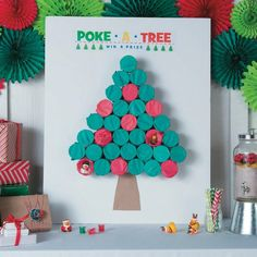 Are you looking for a fun game to play during your holiday party? Check out this awesome Poke-a-Tree Game Idea. This game is a fun activity for kids to enjoy at school, home, dayca