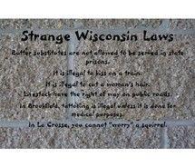 Strange Wisconsin Laws {source: VisualizeUs}