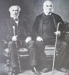 Photograph of John Montgomery (right) and fellow rebel John Anderson in 1875. Both escaped from Fort Henry in July 1838.