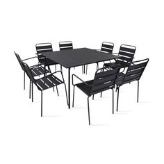 Sandro Table de jardin grise en aluminium (2 à 4 places) | Cour ...