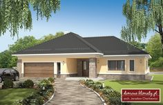 Projekt domu Jaskier, wizualizacja 1 Home Projects, House Plans, Garage Doors, Shed, Villa, Outdoor Structures, How To Plan, Mansions, House Styles