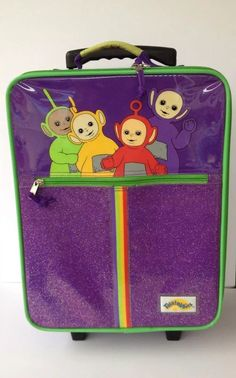 Kids Rolling Suitcase Vtg Teletubbies Childrens Wheels Purple Girl Toddler | eBay
