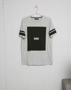 Camiseta print letras números - Camisetas - Bershka Mexico