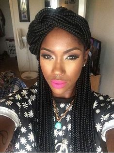 Box Braids Braided Half Updo