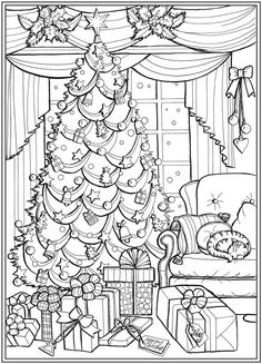 Willkommen bei Dover Publications – Adult coloring pages - Malvorlagen Mandala Free Coloring Sheets, Adult Coloring Book Pages, Cute Coloring Pages, Coloring Pages To Print, Coloring Pages For Kids, Coloring Books, Kids Coloring, Printable Christmas Coloring Pages, Christmas Coloring Sheets