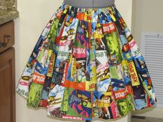 Last One - Womens Star Trek Skirt -Full Gathered Skirt -Full of Twirl Flounce - Ready to ship via Etsy