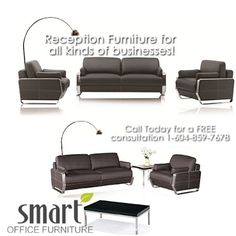 We have reception furniture for all types of businesses! Contact Smart Office Furniture for competitive prices on exquisite reception furniture today! www.smartofficefurniture.ca Toll Free 1-855-767-8118