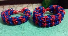 Heart & double forward rhombus bracelet #rainbowloom #couplebands