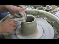 tall cylinders--How to pull taller cylinders with Tim See Ceramic Techniques, Pottery Techniques, Ceramics Projects, Clay Projects, Ceramic Pottery, Pottery Art, High School Ceramics, Pottery Lessons, Clay Videos