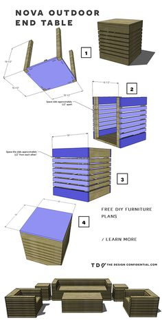 Free DIY Furniture Plans: How to Build a Nova Outdoor End Table | The Design Confidential
