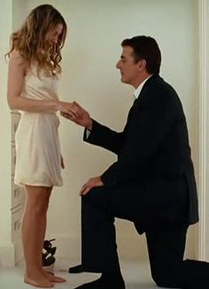 Carrie  Big. El lugar de un hombre :  de rodillas ante la Mujer que le vuela los sesos...