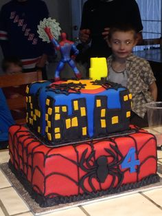 Spider man cake for my Nephew Gibson