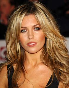 long hair styles with part in the middle | Abbey Clancy Hairstyles - Haircuts And Hairstyles