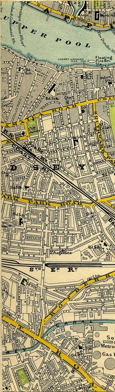 Stanford's Map Of Central London 1897 Old London, East London, Central London Map, Bermondsey London, London History, London Places, Vintage Maps, Historical Maps, British Isles