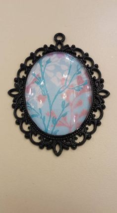 """Pink Flower Pendant 2 1/2"""" by 2"""" by ForeverCreateDesigns on Etsy"""