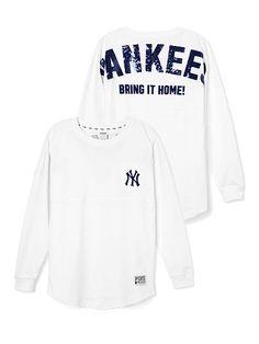 New York Yankees Bling Varsity Crew PINK