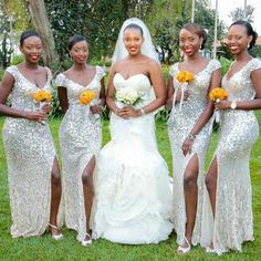 Sliver Sequin Bridesmaid DressesLeg Slit DressMermaid DressCheap DressesNew Arrival DressPD00186