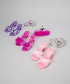 Loving this Pink Princess Shoe & Tiara Set on #zulily! #zulilyfinds