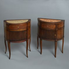 A Matched Pair of Late 18th Century Bedside Commodes - Timothy Langston