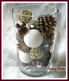 Being Home: Christams Decor - Cylinder Glass Vase