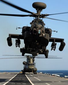 Apache Longbow and RAF Chinook Helicopters