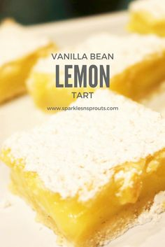This Vanilla Bean Lemon Tart is a perfect treat for anytime of the year!