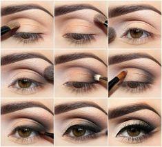 Maquillaje para ojos marrones en... http://www.1001consejos.com/8-pasos-para-maquillaje-de-ojos-marrones/