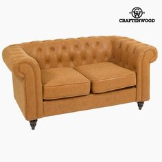 If you want to add a touch of originality to your home, you will do so with 2 seater sofa chester by Craftenwood. Material: Leatherette Wooden structure Tinted