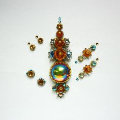 Your place to buy and sell all things handmade Third Eye Piercing, Light Orange, Orange Color, Tribal Fusion, Bindi, Belly Dance, Blue Sapphire, Dawn, Topaz