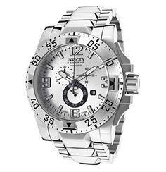 Invicta Excursion Men's Chronograph Watch Silvertone 49.5 MM  Price : $249.00 http://www.trailblazegems.com/Invicta-Excursion-Chronograph-Watch-Silvertone/dp/B00I61AYW4