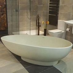 Olympian Nero Stone Bath by Boundary Bathrooms