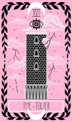 """The Tower"" - The Lovely Omens Tarot by Keely Parks"