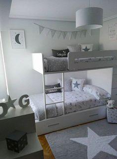 La habitación de los mellizos de Lorena en BLANCO Y GRIS! | Boho Deco Chic | Bloglovin'