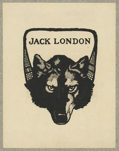 1 print : lithograph ; bookplate 12.8 x 9.9 cm, on mount 22.8 x 15.2 cm. | Print showing a wolf's head and snow shoes.