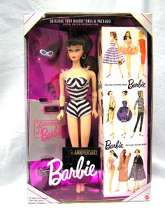 1993 35th Anniversary 1959 Reproduction Barbie Doll & Package NRFB by MermeowTreasures, $30.00