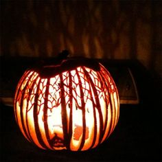 Pumpkin carvings that are more than a little impressive .