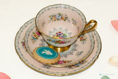 Your place to buy and sell all things handmade Beautiful Pink Roses, Light Reflection, Side Plates, Tea Sets, Vintage Tea, Bone China, Crochet Patterns, Pastel, Shapes