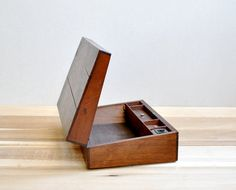 Antique Wood Writing Box by LittleDogVintage on Etsy, $45.00