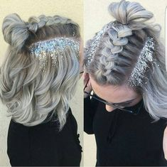 Space Buns you should probs do this for new years@Cocoblackhair #beautiful#nice#style#hairstyler#stylist#grey#buns#xmas#newyear Coco Black Hair provide the most natural looking hair and wigs Change yourself today!