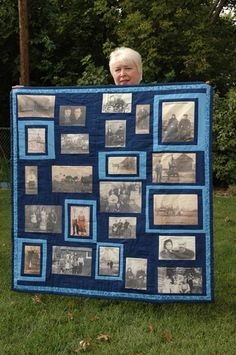 Tillie Van Sickle sent this picture her beautiful Miller Family Quilt. I would love to use this technique to make an actual family tree quilt.