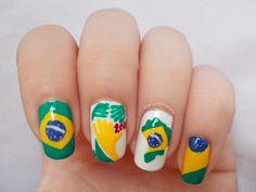 Uñas decoradas para el Mundial Brasil 2014 - http://xn--decorandouas-jhb.com/unas-decoradas-para-el-mundial-brasil-2014/