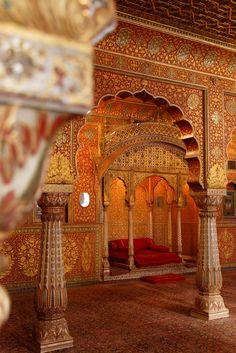 """uncommonjones: """" italdred: """" Hall of Private Audience, Junagarh (by nekineko) """" Bikaner, Rajasthan, India """""""