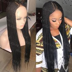 Lace Frontal Cornrow Wig, Neatly and Tightly Done For Long Term Use Hand Made Corn Row Wigs Lace Frontal Material Guaranteed to Last For 2 Years Color Shown: Length S Cool Braid Hairstyles, Braided Hairstyles For Black Women, Short Hair Updo, My Hairstyle, African Hairstyles, Girl Hairstyles, Black Hairstyles, Casual Hairstyles, Hairstyle Images