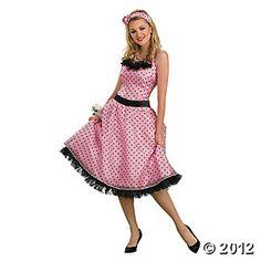 Polka Dot Prom Adult Women s Costume Costumi Da Carnevale Per Adulti d9ccb9cf01f
