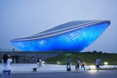 The ARC- River Culture Multimedia Theater Pavilion / Asymptote Architecture