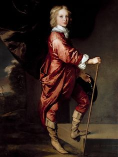 Peter Lely - Portrait of Charles Dormer, Earl of Carnarvon Potrait Painting, Painting Art, Victorian Paintings, Historical Art, Royal Fashion, Beautiful Paintings, Kids Outfits, Long Hair Styles, Children