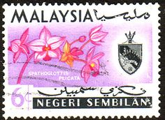 Malaya Negri Sembilan 1965 SG 84 Orchids Fine Used Scott 79 Other Asian and British Commonwealth Stamps HERE!