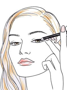 Eyeliner tips and tricks // Does your liner look like it was scribbled on by a toddler? Try Murphy's foolproof method Perfect Eyeliner, How To Apply Eyeliner, Gold Eyeliner, Glitter Eyeshadow, Eyeliner Pencil, Kajal Eyeliner, Eyeshadow Palette, Morphe, Concealer