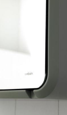Fluent collection by Inbani. Detail. #mirror #bathroom #furniture #design